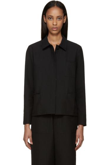 Sara Lanzi - Black Piqué Jacket