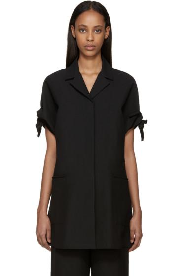 Sara Lanzi - Black Piqué Coat