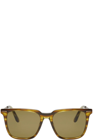 Bottega Veneta - Green Acetate Square Sunglasses