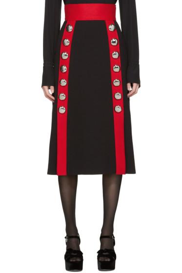 Dolce & Gabbana - Black Wool Buttons Skirt
