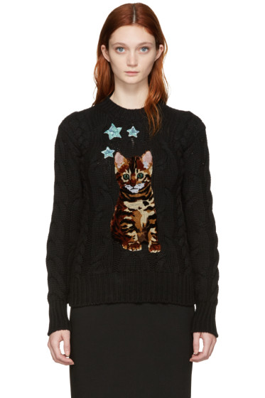 Dolce & Gabbana - Black Bengal Kitten Sweater