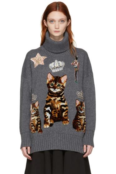 Dolce & Gabbana - Grey Bengal Kitten Sweater Dress