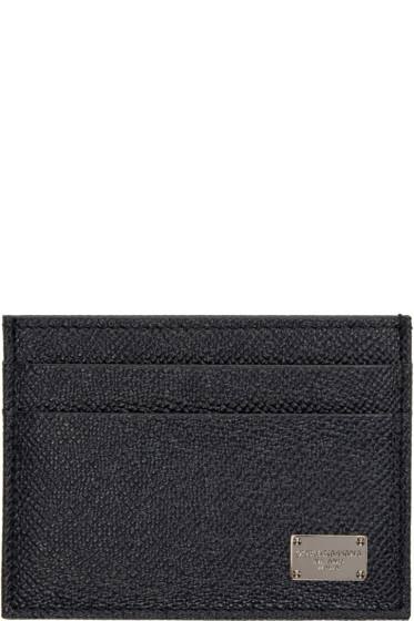 Dolce & Gabbana - Navy Leather Card Holder