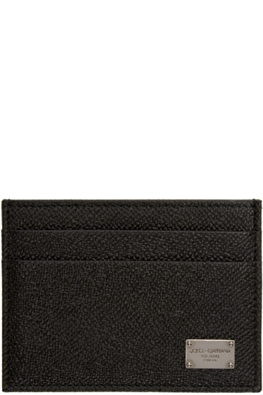 Dolce & Gabbana - Black Leather Card Holder