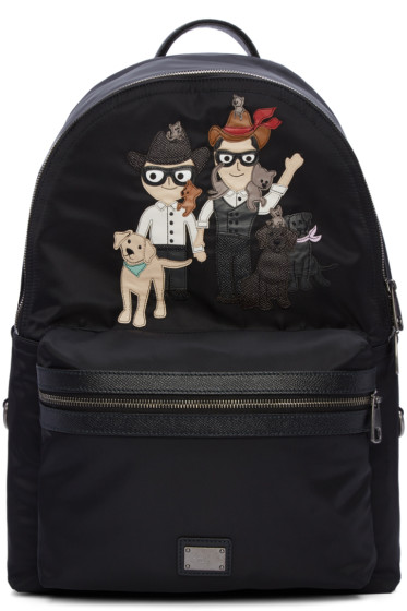 Dolce & Gabbana - Black Designers & Pets Backpack