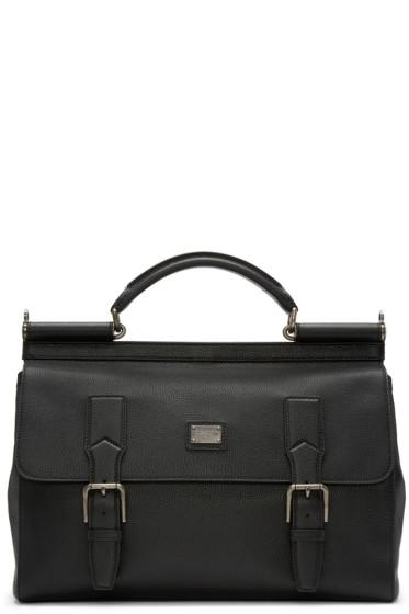 Dolce & Gabbana - Black Sicily Messenger Bag