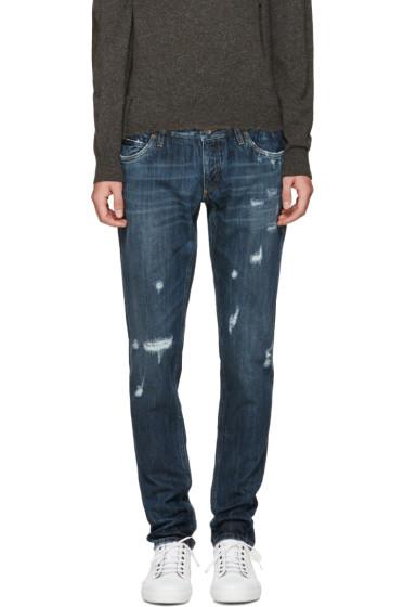 Dolce & Gabbana - Blue Sicilian Western Jeans