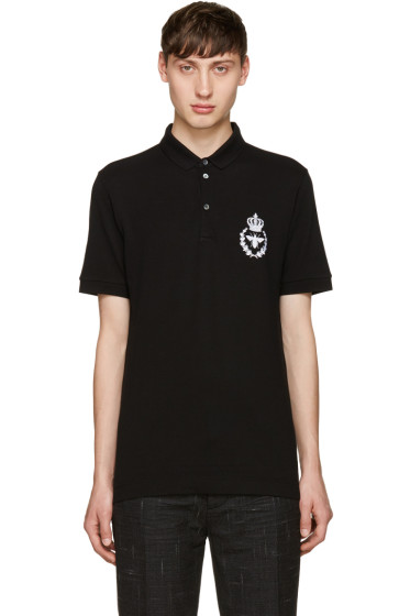 Dolce & Gabbana - Black Embroidered Polo