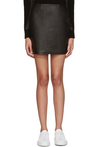 Mackage - Black Leather Alva Miniskirt