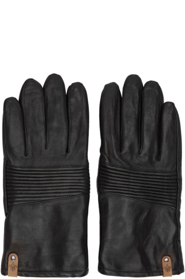 Mackage - Black Lambskin Gunner Gloves