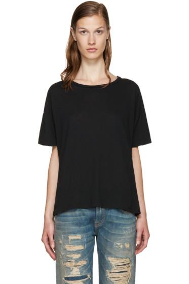 R13 - Black Classic Oversized T-Shirt
