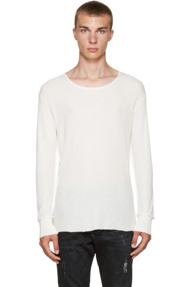 R13 - Ecru Inside Out T-Shirt