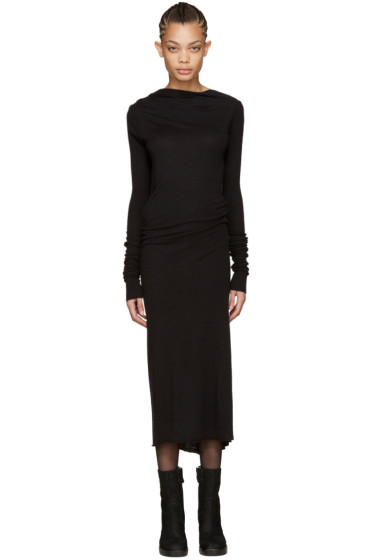 Rick Owens Lilies - Black Backless Jersey Dress