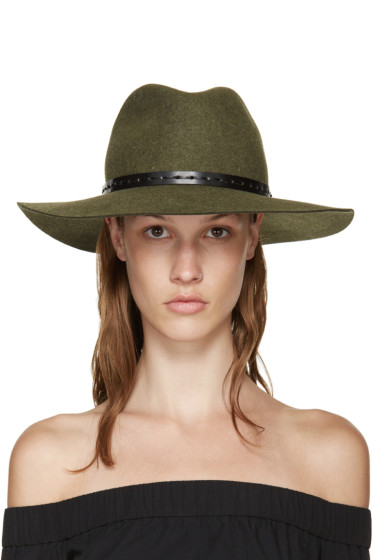 Rag & Bone - Green Felted Wool Wide-Brim fedora