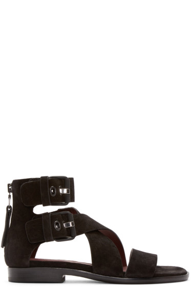 Rag & Bone - Black Suede Madeira Sandals