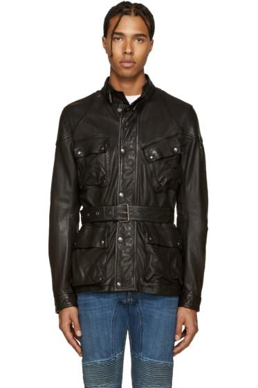 Belstaff - Black Leather Speedmaster Jacket
