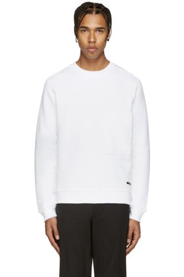 Diesel Black Gold - White Quilted Pocket Sweatshirt
