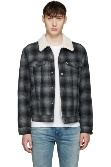Levi's - Grey Sherpa Trucker Jacket