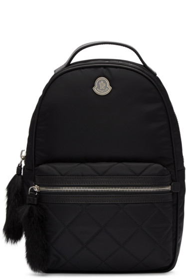 Moncler - Black Georgette Backpack