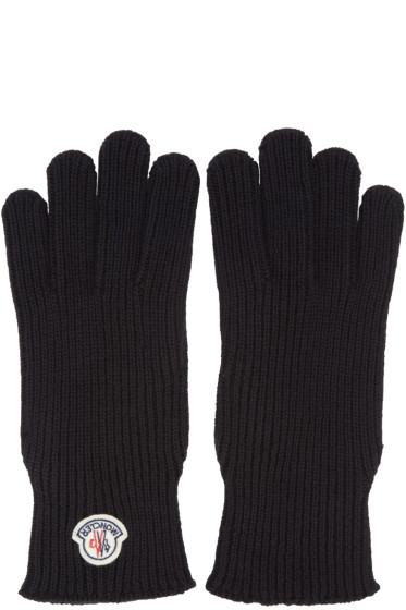Moncler - Black Wool Gloves