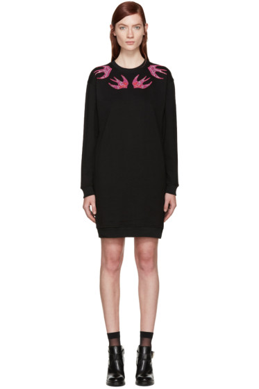 McQ Alexander Mcqueen - Black Swallows Dress