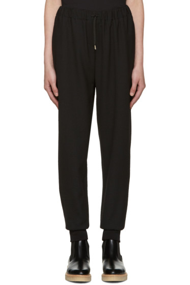 McQ Alexander Mcqueen - Black Textured Lounge Pants