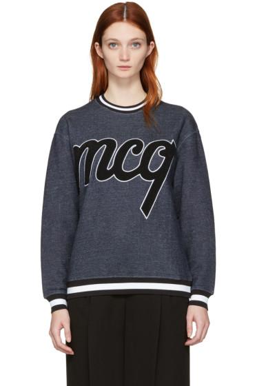 McQ Alexander Mcqueen - Indigo Logo Classic Pullover