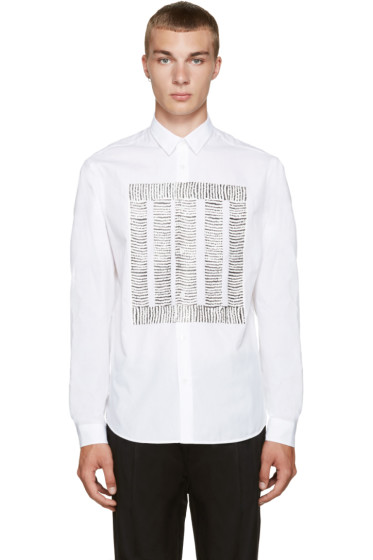 McQ Alexander Mcqueen - White Sheehan Square Sketch Shirt