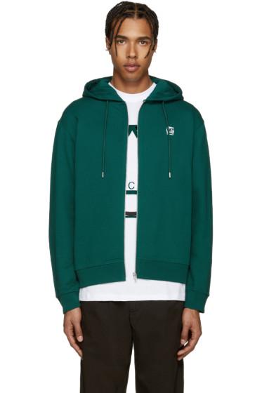 McQ Alexander Mcqueen - Green Logo Hoodie