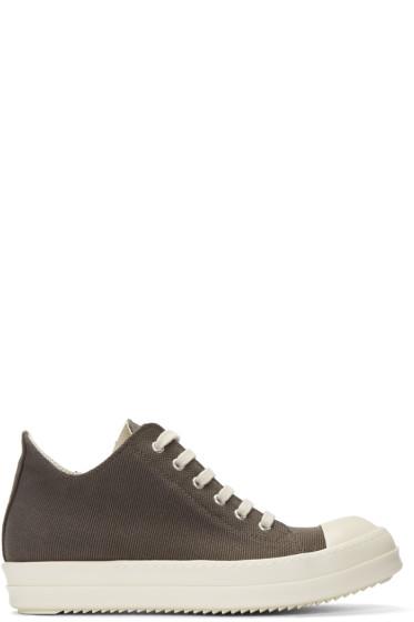Rick Owens Drkshdw - Grey Canvas Sneakers