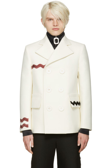 Acne Studios - Ivory Ribbon Jake Coat