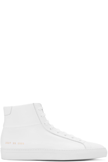 Common Projects - White Original Achilles High-Top Sneakers