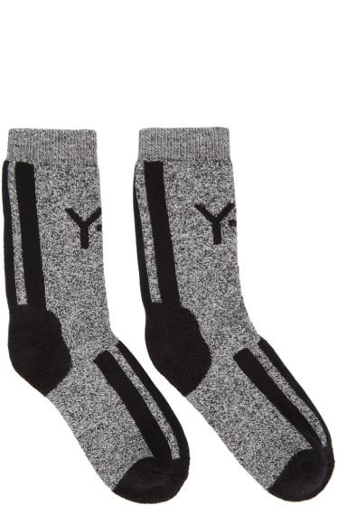 Y-3 - Black & White Logo Socks