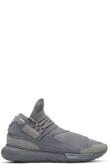 Y-3 - Grey Qasa High Sneakers