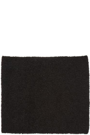 YMC - Black Bouclé Scarf