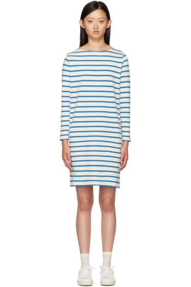 YMC - Ecru & Blue Breton Stripe Dress