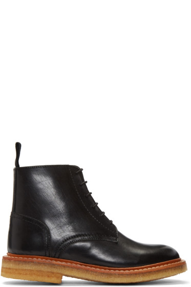 YMC - Black Crepe Sole Boots