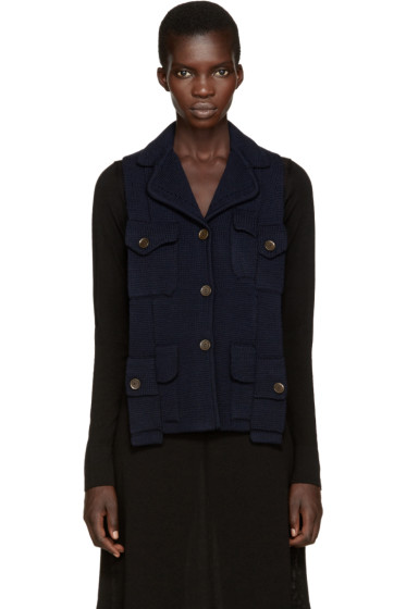 Maison Margiela - Navy Backless Army Vest