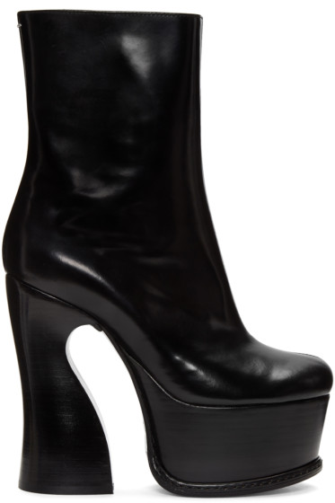 Maison Margiela - Black Heeled Ankle Boots