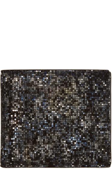 Maison Margiela - Black Metallic Mosaic Wallet