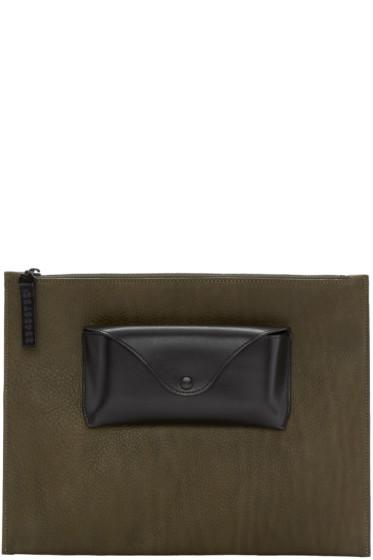 Maison Margiela - Green Leather Document Holder
