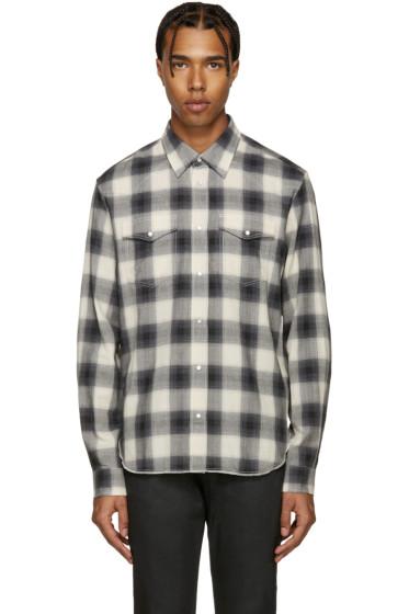 Maison Margiela - Grey Flannel Check Shirt
