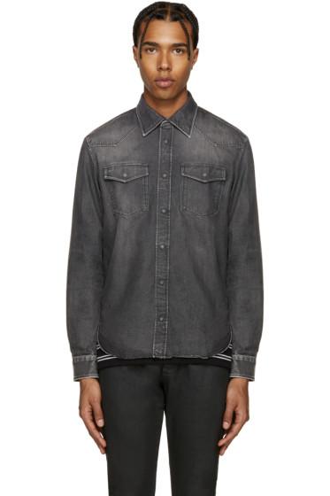 Maison Margiela - Black Denim Faded Shirt