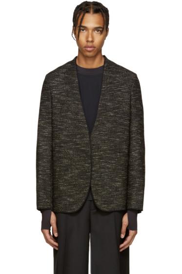 Maison Margiela - Black Deconstructed Tweed Blazer