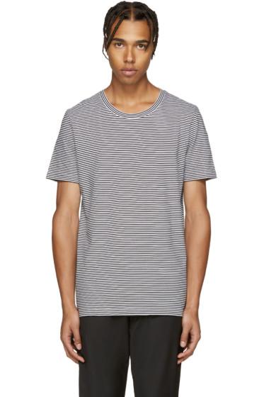 Maison Margiela - Black & White Striped Three-Pack T-Shirt