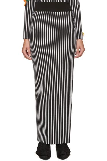 Christopher Kane - Black & White Striped Skirt