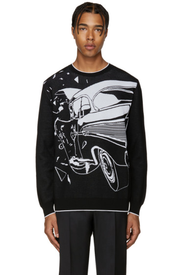 Christopher Kane - Black Car Crash Sweater