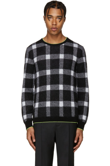 Christopher Kane - Black Mohair Check Sweater