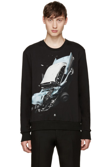Christopher Kane - Black Car Crash Pullover