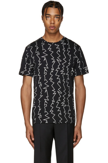 Christopher Kane - Black Zig Zag T-Shirt